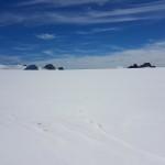 p Vedretta del Mandron, sullo sfondo il Monte Fumo e il Corno dell'Adamello