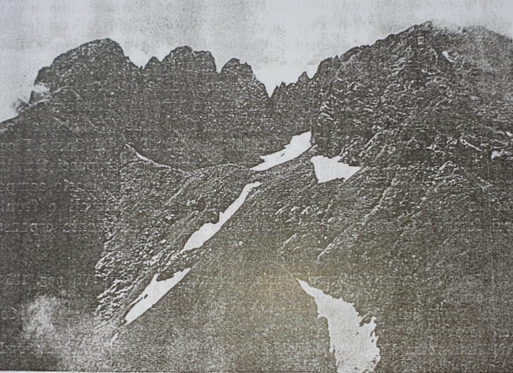 Ghiacciaio del Calderone foto primi del '900