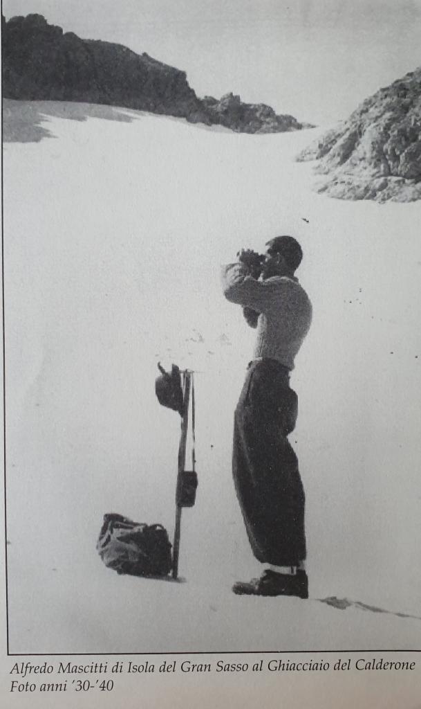 Ghiacciaio del Calderone luglio 1939