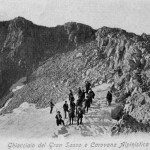 Il-ghiacciaio-del-Calderone-e-carovana-alpinistica-Anno-1927
