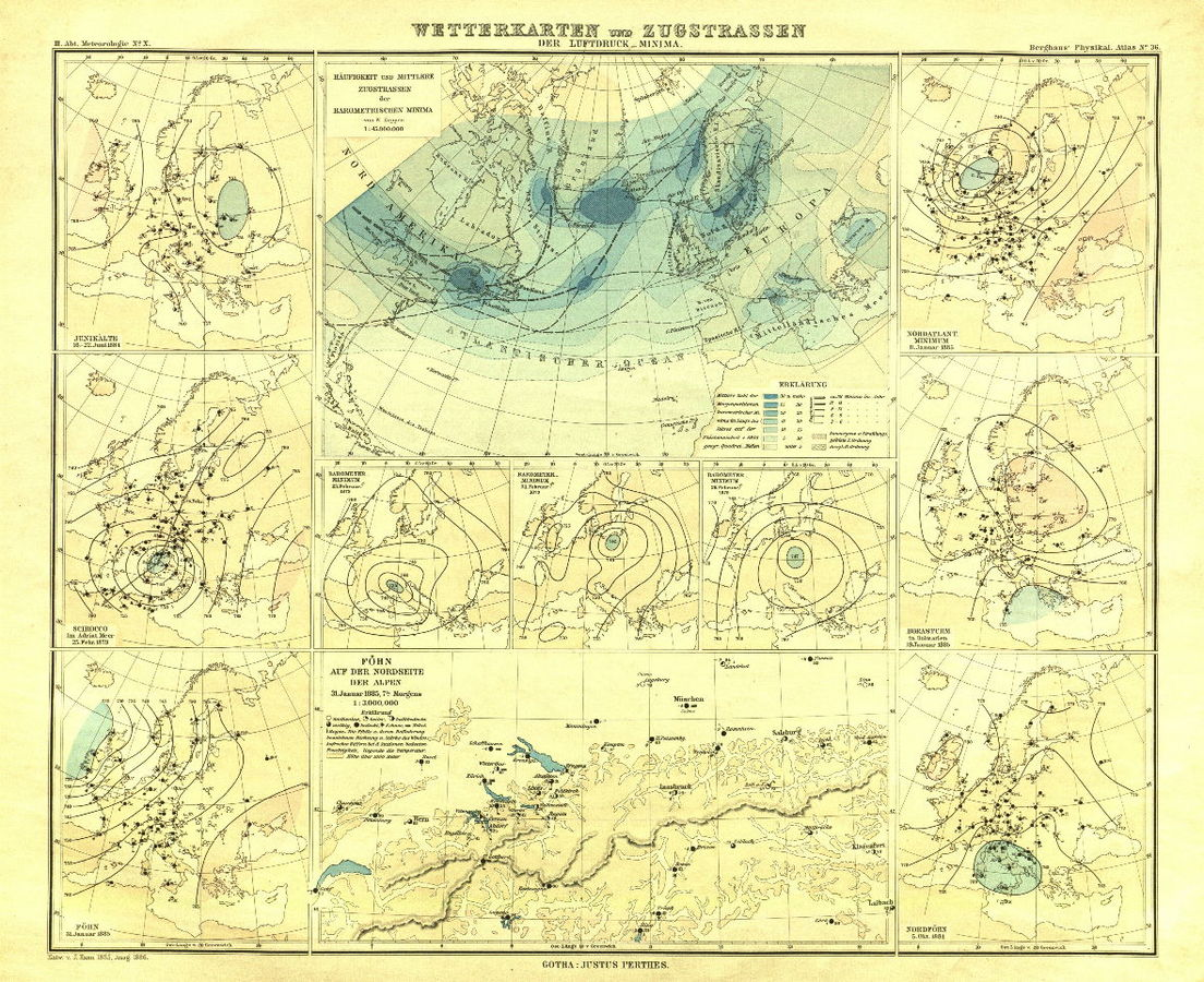 b carta meteoroliga antica