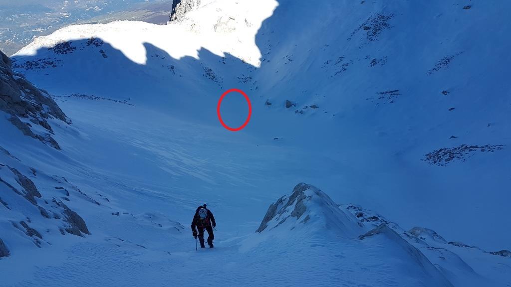 Il Ghiacciaio del Calderone e il Laghetto Sofia ghiacciato