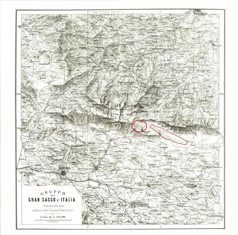 Antica carta topografica del 1888