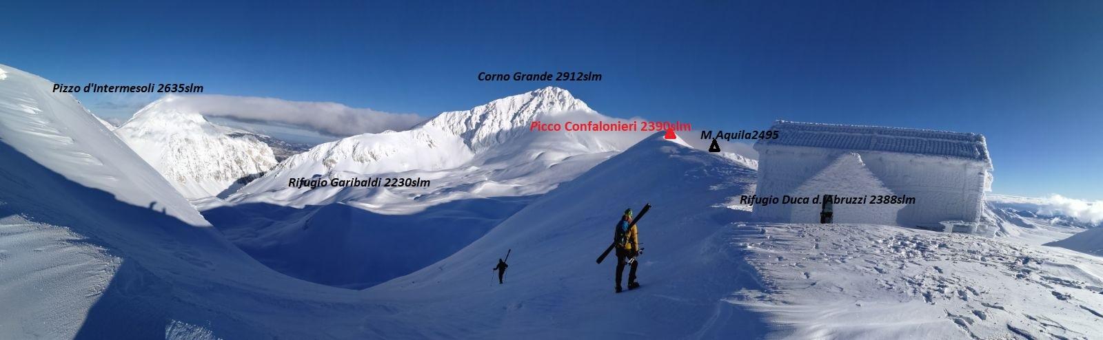 Panorama dalla cresta della Portella