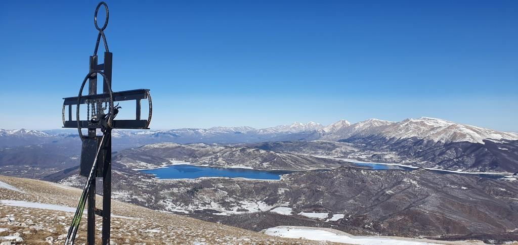 C Monte San Franco, il Lago di Campotosto e i Monti della Laga