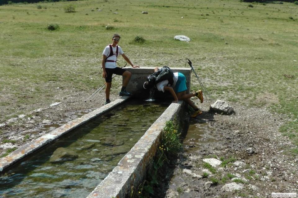 Il fontanile monumentale alla radura del castrato